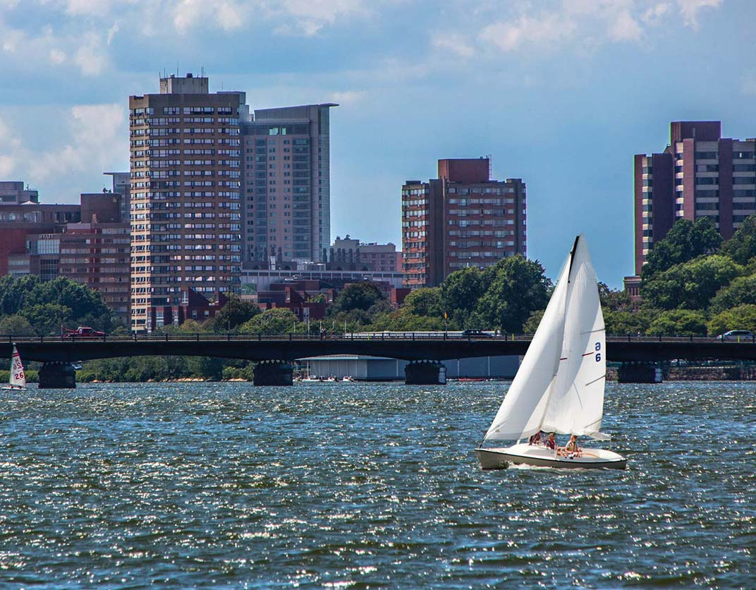 One Canal Apartment Homes - Boston, MA - Sailboat on Water