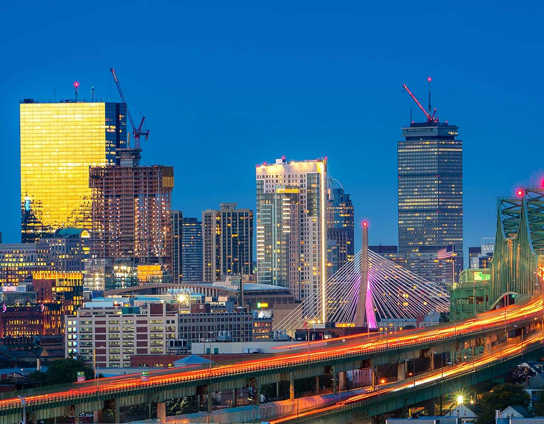 One Canal Apartment Homes - Boston, MA - Night Skyline