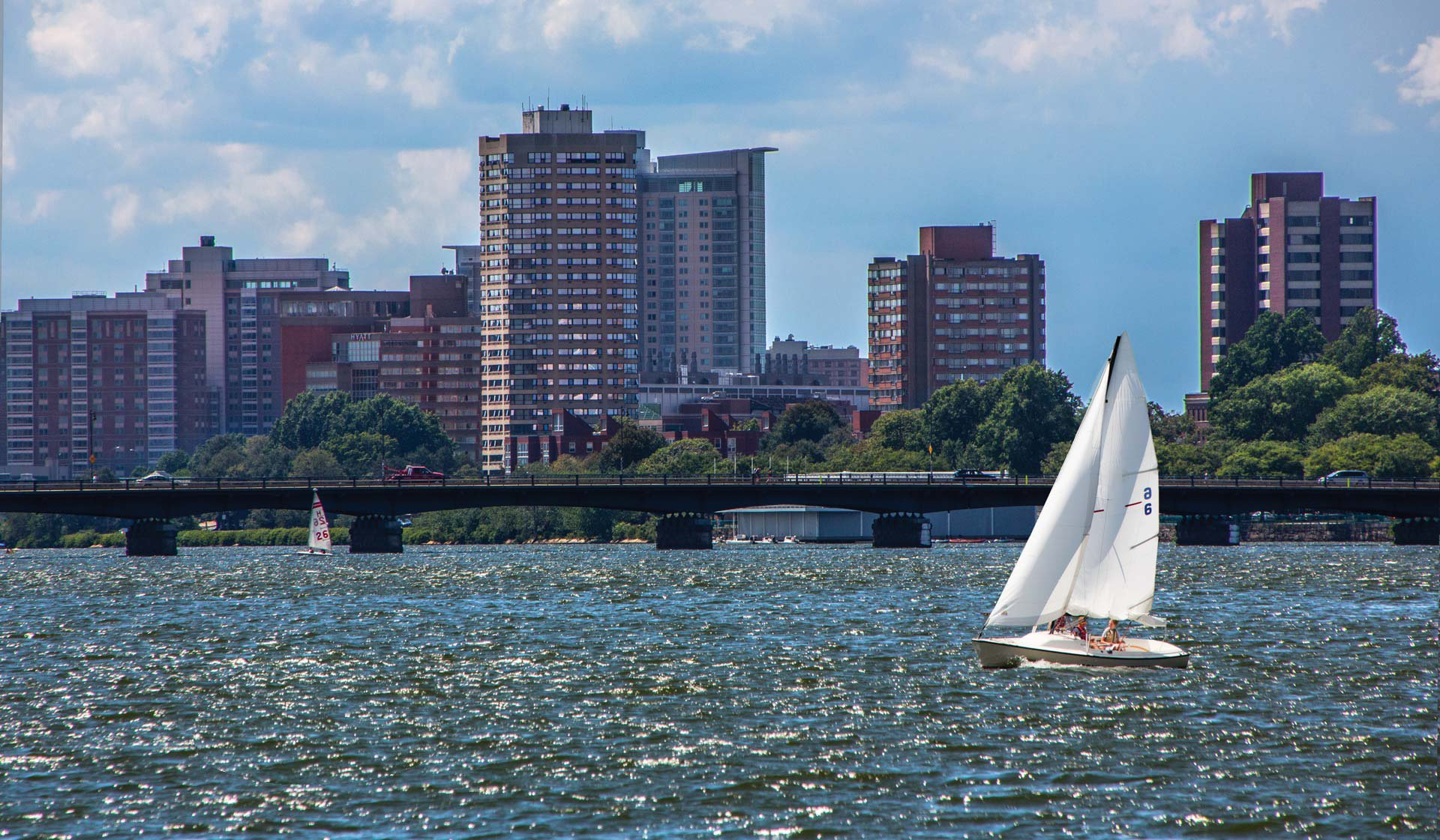 One Canal Apartment Homes - Boston, MA - Sailboat on Charles River